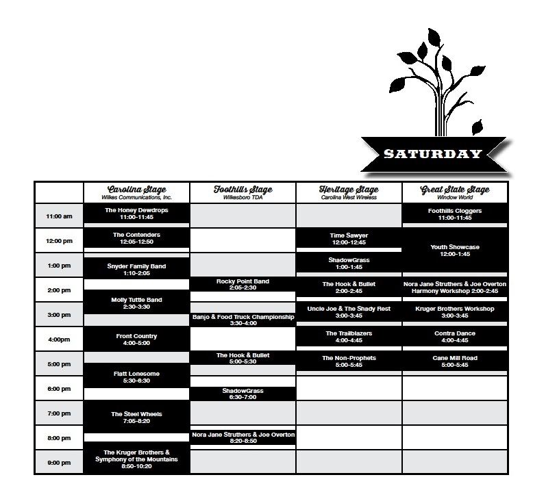 saturday-schedule